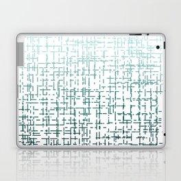 Blue Ombre Crossed Line Pattern Laptop & iPad Skin