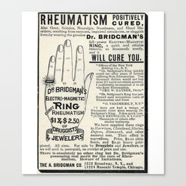 Righteous Rheumatism Canvas Print