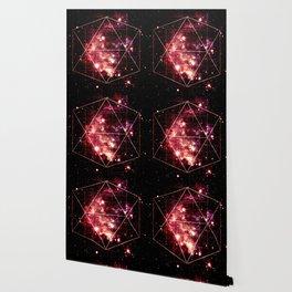 Burgundy Magenta Galaxy Sacred Geometry : Golden Rectangles Wallpaper