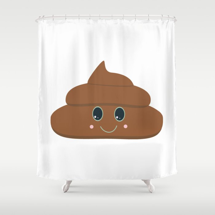 Happy poo Shower Curtain