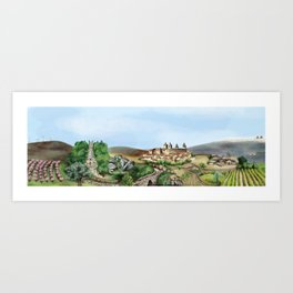 Viseu landscape Art Print