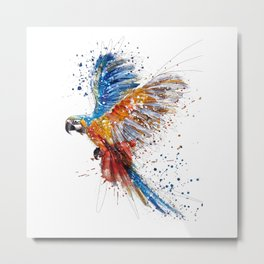 Beautiful Colorful Macaw Metal Print