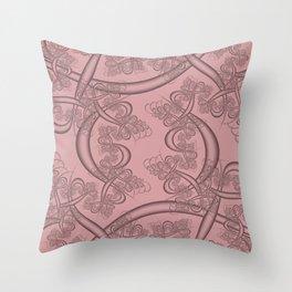 Bridal Rose Fractal Throw Pillow