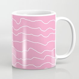 Pink with White Squiggly Lines Coffee Mug