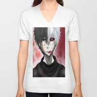 stained glass V-neck T-shirts featuring Stained Glass by Tonemanaged