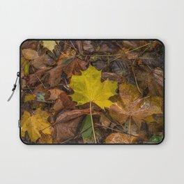 Yellow Maple Leaf Laptop Sleeve