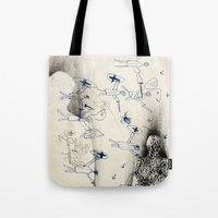 "battlefield Tote Bags featuring ""Battlefield"" - You Do Not Exist by Becy Brooks"