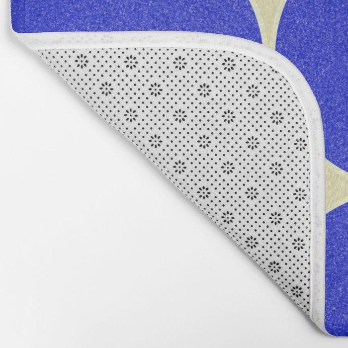 Blue mid-century shapes no8 Bath Mat