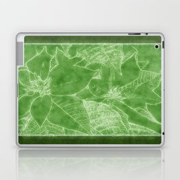 Poinsettias Outlined Green Laptop & iPad Skin