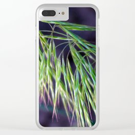 Hyper Exposed Hayseed On Purple Clear iPhone Case