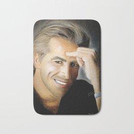 Don Johnson portrait with dry pastels Bath Mat