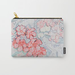 Spring Red Flowers Carry-All Pouch
