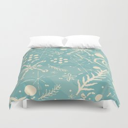 Winter Snowflakes and Doodles Duvet Cover
