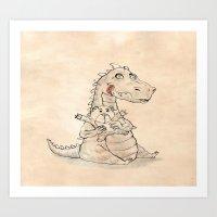 dragon Art Prints featuring Dragon  by gunberk
