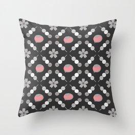 Hanami Nummies | Black Sakura Throw Pillow