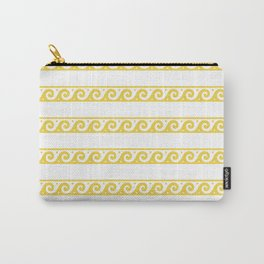 Yellow Greek wave pattern Carry-All Pouch