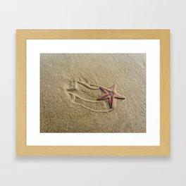 Shooting Sea Star Framed Art Print