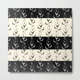 Art Deco No. 49. Block . Combined black and white pattern . Calla . Metal Print