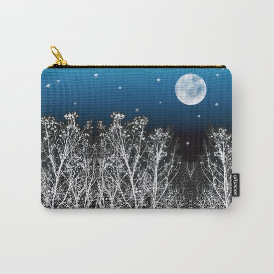 White Woods Moon Carry-All Pouch