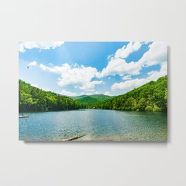 Step into the Water Metal Print