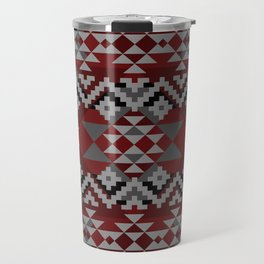 Red Aztec Travel Mug
