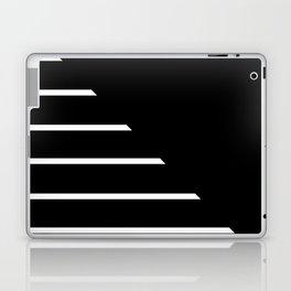 Half Stripes Black and White Laptop & iPad Skin