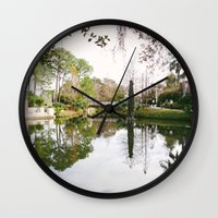 new orleans Wall Clocks featuring New Orleans by Alden Terry