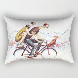 Pair of cyclists Rectangular Pillow
