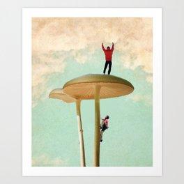 Land of the Giant Mushroom Art Print