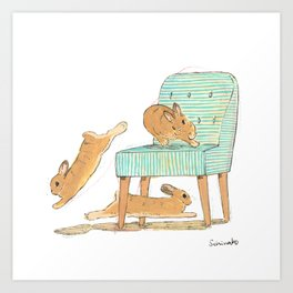 Binky! Art Print