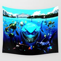 nemo Wall Tapestries featuring nemo by Marwan Baghdadi