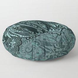 Hawaiian - Samoan - Polynesian Slate Tribal Threads Floor Pillow