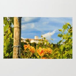 Sunset in the vineyards of Rosazzo Rug