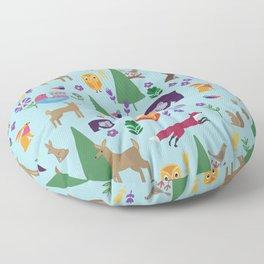 Folk Art Woodlands Floor Pillow