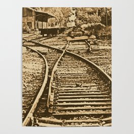 Abandoned Rail Tracks-Wild West Poster