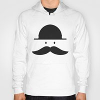 mustache Hoodies featuring mustache by Artificial primate