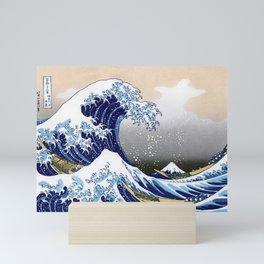 Great Wave off Kanagawa (HQ original) Mini Art Print
