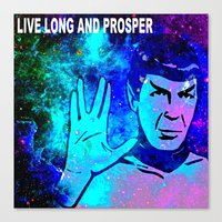 spock Canvas Prints featuring SPOCK by Saundra Myles