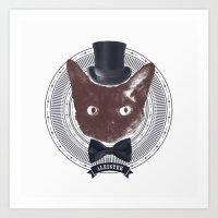 Top Hat Bat Art Print