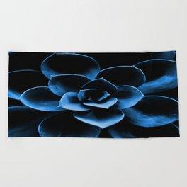 Dark Blue Succulent Plant #decor #society6 #homedecor Beach Towel