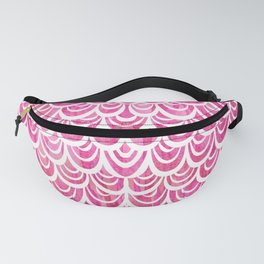 Watercolor Mermaid Pink Tourmaline Fanny Pack