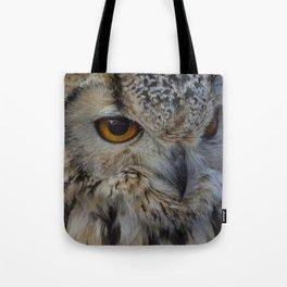 Eurasian eagle-owl, wild bird Tote Bag