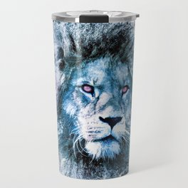 Galaxy LION in space particles Travel Mug