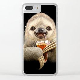 SLOTH & SOFT DRINK Clear iPhone Case