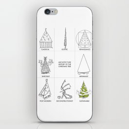 Architecture History of the Christmas Tree iPhone Skin