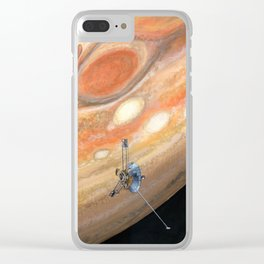 Interplanetary Pioneer Clear iPhone Case