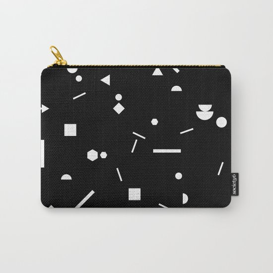 My Favorite Pattern 3 black Carry-All Pouch