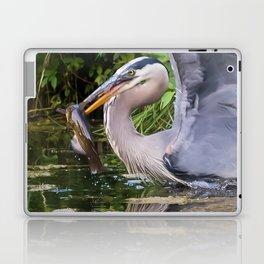 Heron and bullhead take-off Laptop & iPad Skin