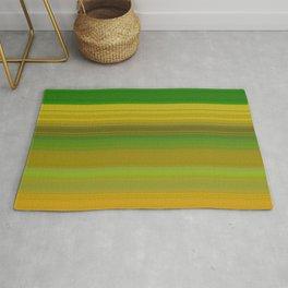 green and yellow horizontal lines Rug
