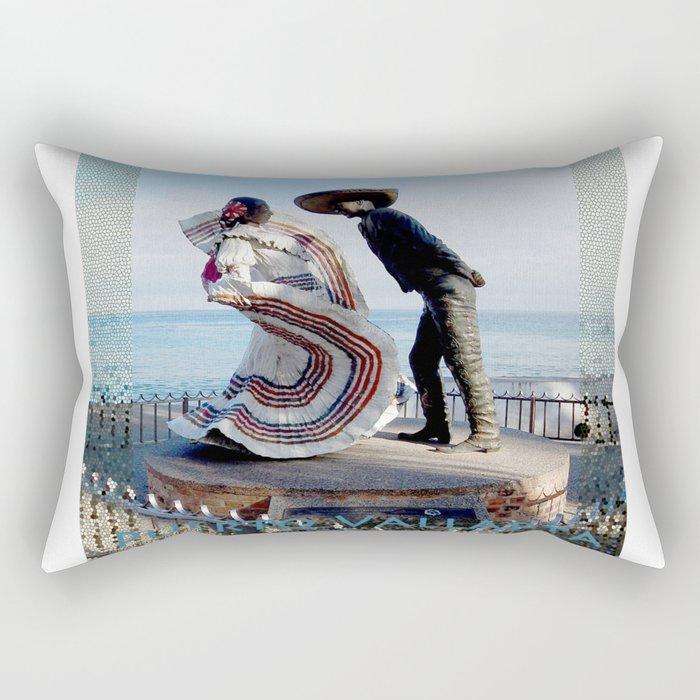 Puerto Vallarta, Mexico Sculpture by the Sea Rectangular Pillow